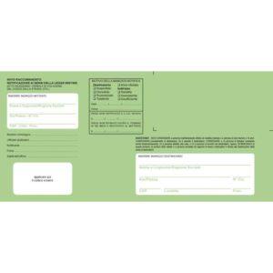 Buste verdi per notifica in proprio o tramite Ufficiali Giudiziari, f.to 11×23 cm