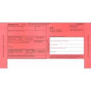 Avvisi di ricevimento per notifica estera, MOD 01302B, conf. da 20 pezzi