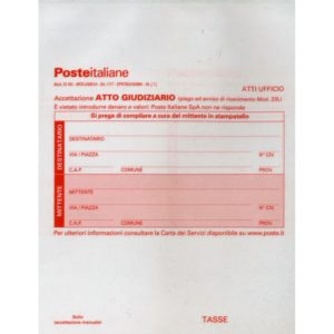 NUOVE Accettazione Raccomandate Appello, MOD 22AG, conf. 50 pezzi