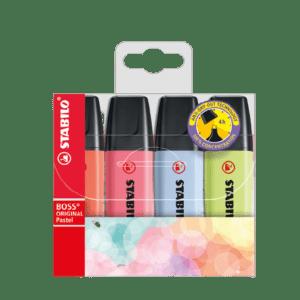 Multipack Evidenziatori STABILO Boss Original Pastel x4 pz. – 70/4-3