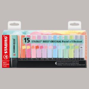 Multipack Evidenziatori STABILO Boss Original Pastel x15 pz.