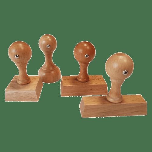Timbri di legno manuali