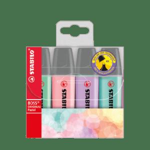 Multipack Evidenziatori STABILO Boss Original Pastel x4 pz. – 70/4-2