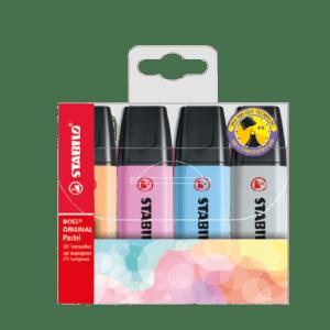 Multipack Evidenziatori STABILO Boss Original Pastel x4 pz. – 70/4-4