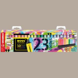 Multipack Evidenziatori STABILO Boss Original Mix Fluo & Pastel x23 pz.
