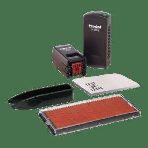 Trodat dryteq Typo – Timbro Multi-Superfici 12x12mm – Per auto-composizione